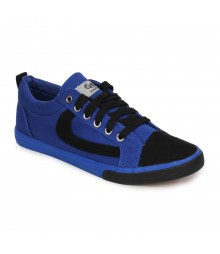 Vostro Blue Black Casual Shoes for Men - VCS0154